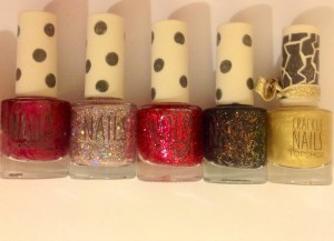 Topshop nail varnish - Espcially love the glitters!!