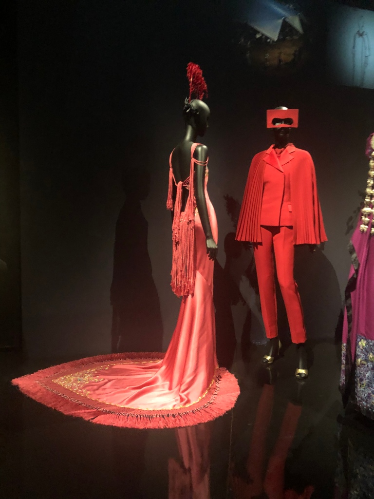 Christian Dior fashion designer red dress